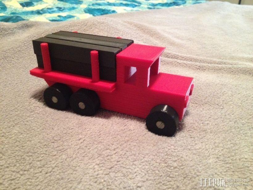 玩具测井工程车 3D打印模型渲染图