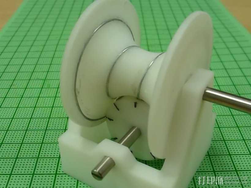 磁蜗轮模型 3D打印模型渲染图