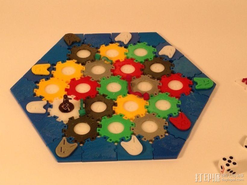 六边形桌游基地 3D打印模型渲染图