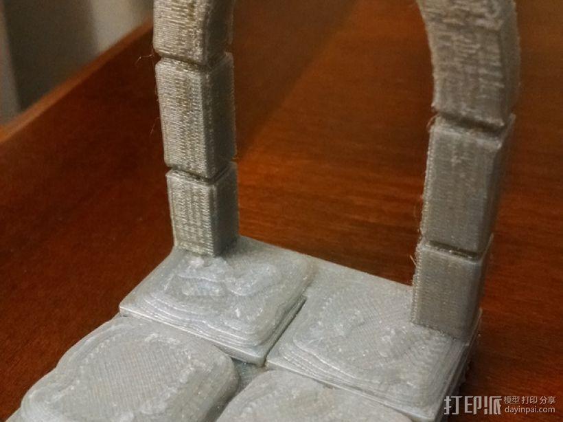 石头地牢:拱形门 3D打印模型渲染图