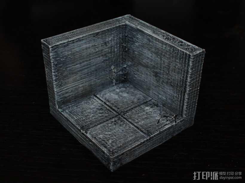 OpenForge边缘平滑的角砖 3D打印模型渲染图
