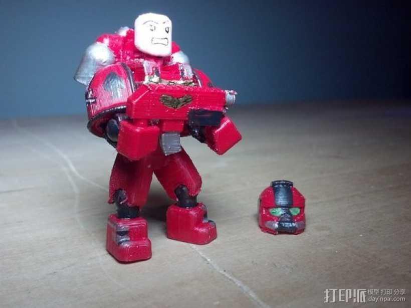 可伸缩定制的星际战士 3D打印模型渲染图