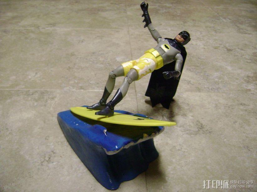 蝙蝠侠冲浪板支架 3D打印模型渲染图