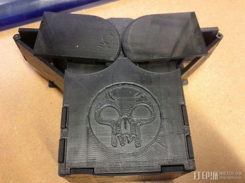 齿轮转动的MTG盒子 3D打印模型渲染图