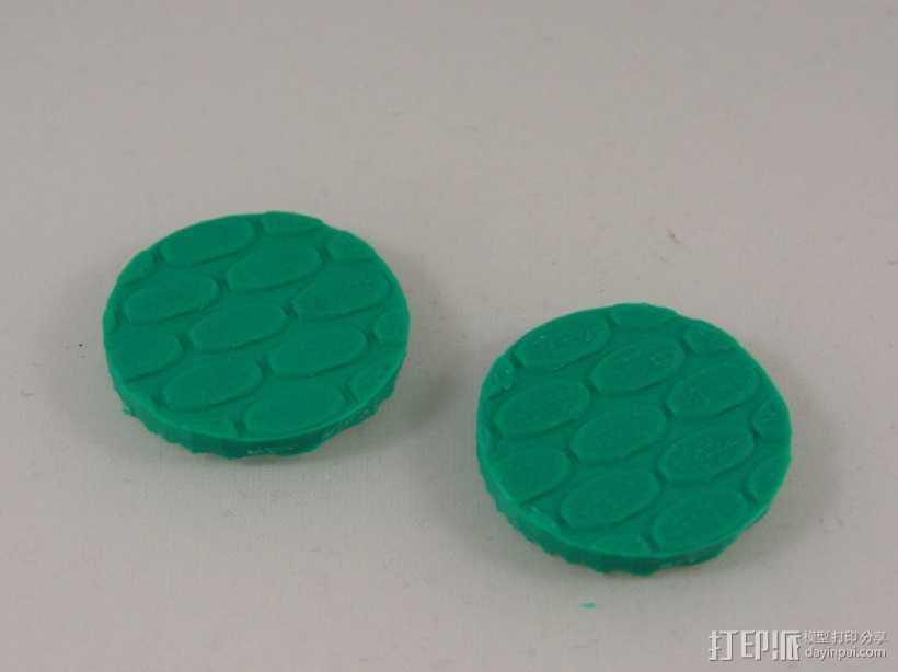 圆形玩偶底座 3D打印模型渲染图