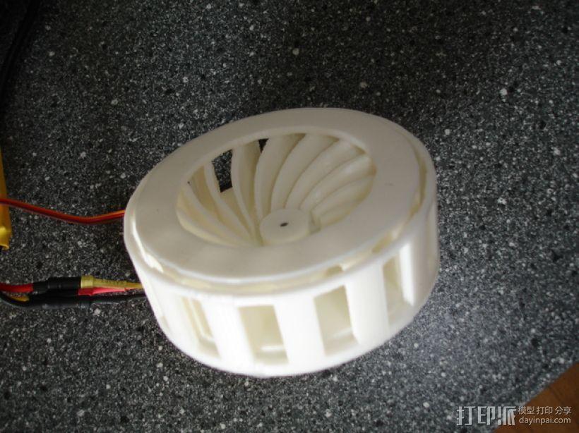 电动报警器电机450 3D打印模型渲染图