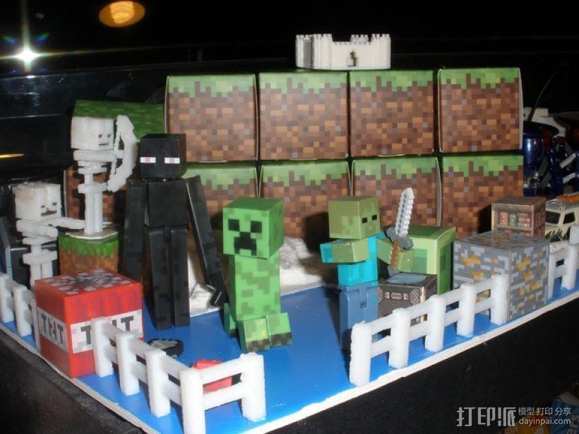 Minecraft 玩偶套件 3D打印模型渲染图