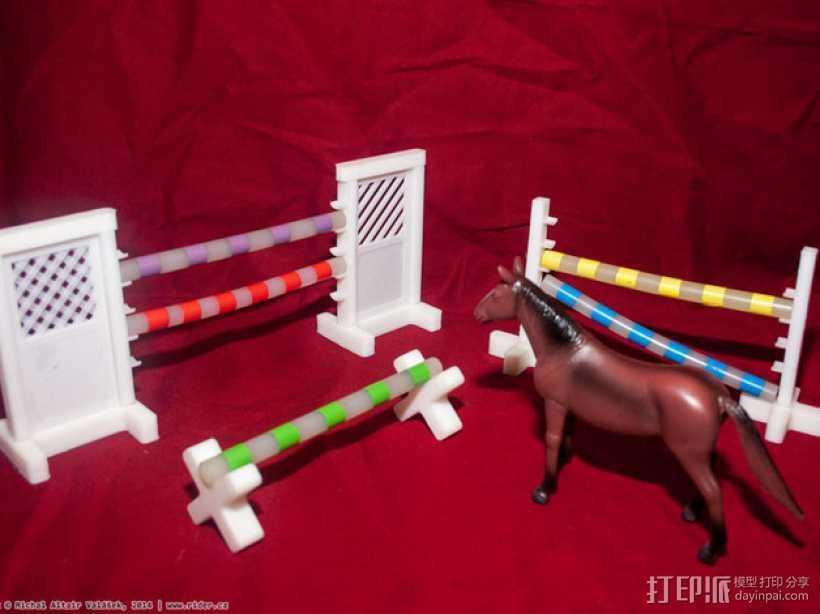 玩具马障碍物 3D打印模型渲染图