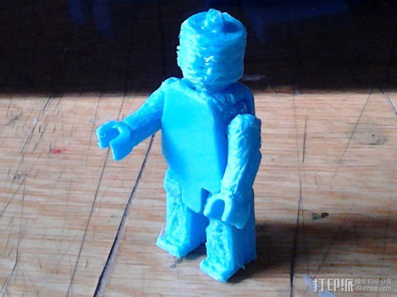 可移动的迷你玩偶 3D打印模型渲染图