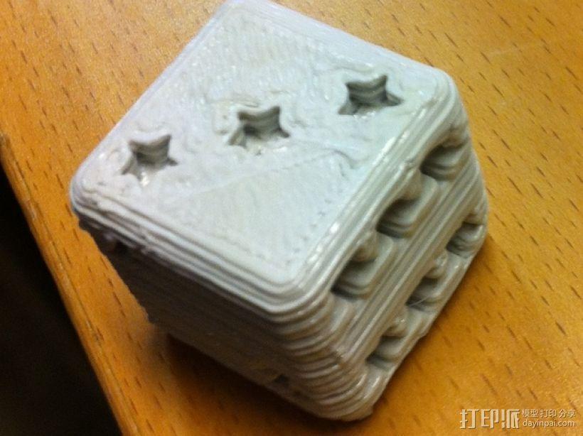 星形六面骰子 3D打印模型渲染图
