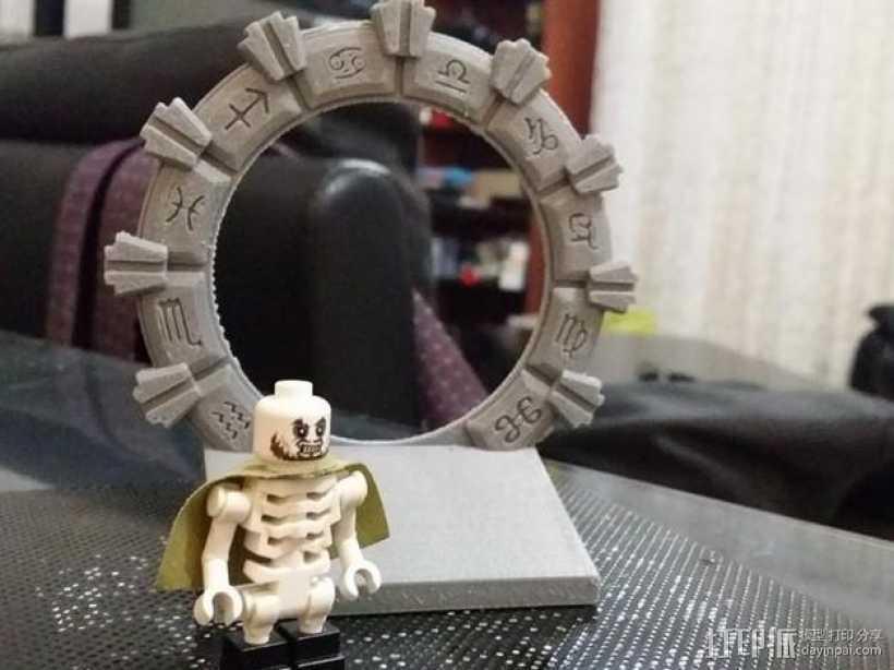 乐高星际之门 3D打印模型渲染图