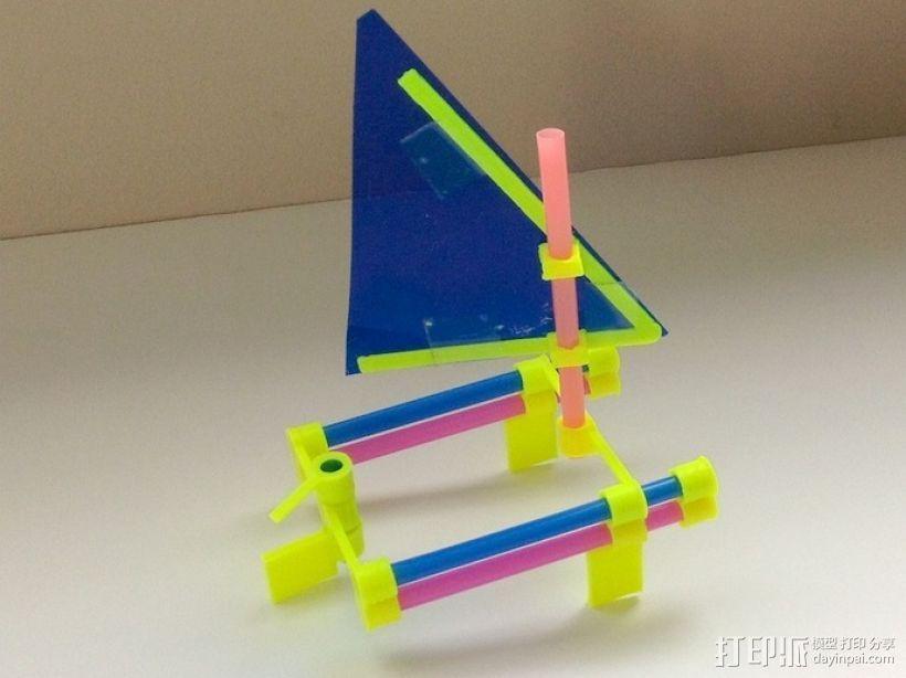 玩具船模型 3D打印模型渲染图