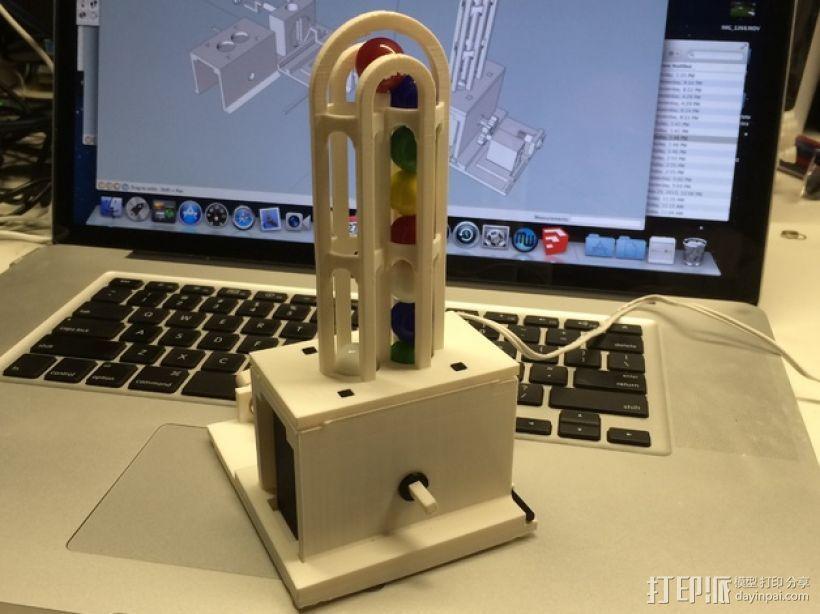 弹珠抽运装置 3D打印模型渲染图