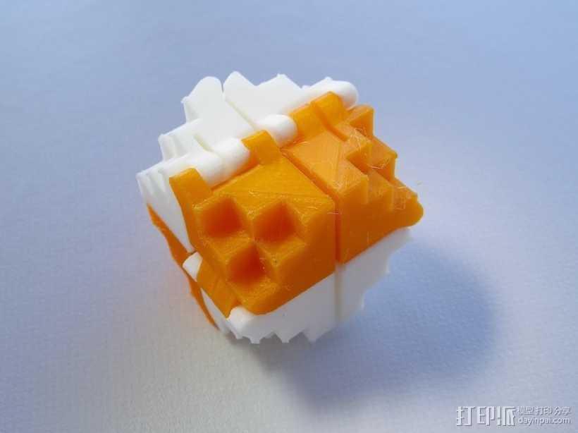 PLA折叠立方体 3D打印模型渲染图