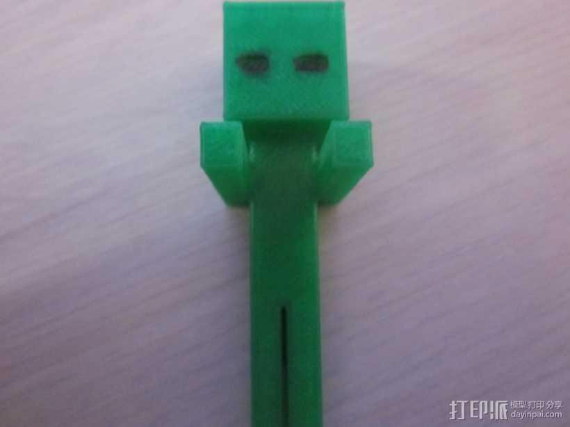 Minecraft:末影人 3D打印模型渲染图