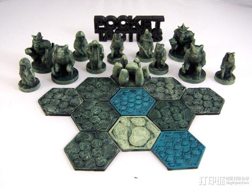 Pocket-Tactics:黑森林部落 3D打印模型渲染图