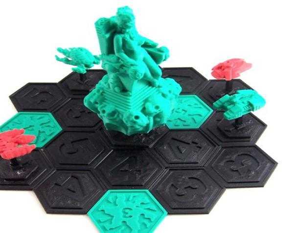 突破口:幸运女神 3D打印模型渲染图