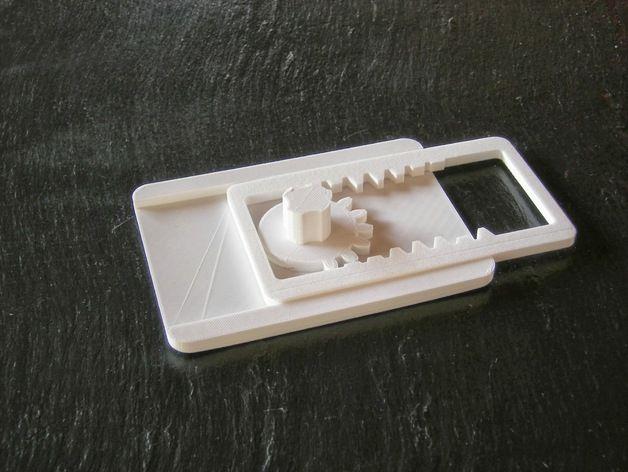 齿轮触发器 3D打印模型渲染图