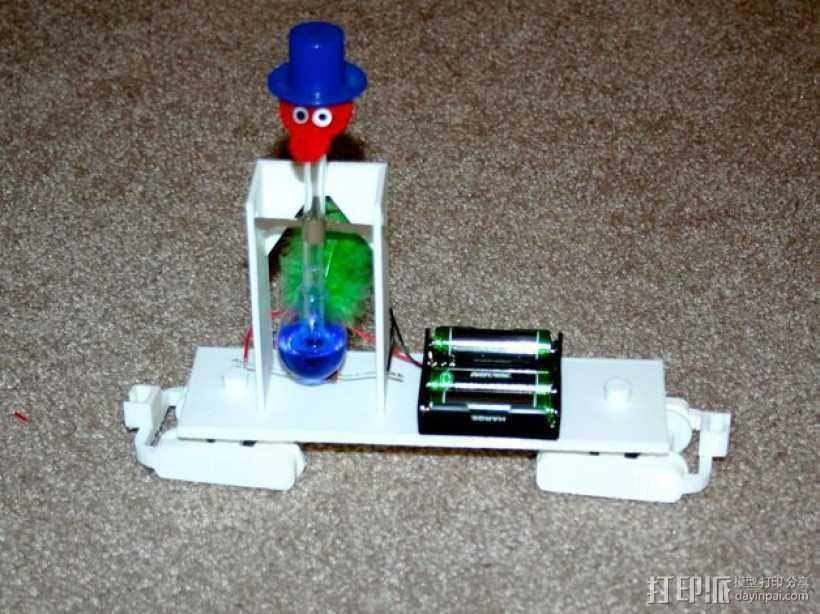 机动轨道车3 3D打印模型渲染图