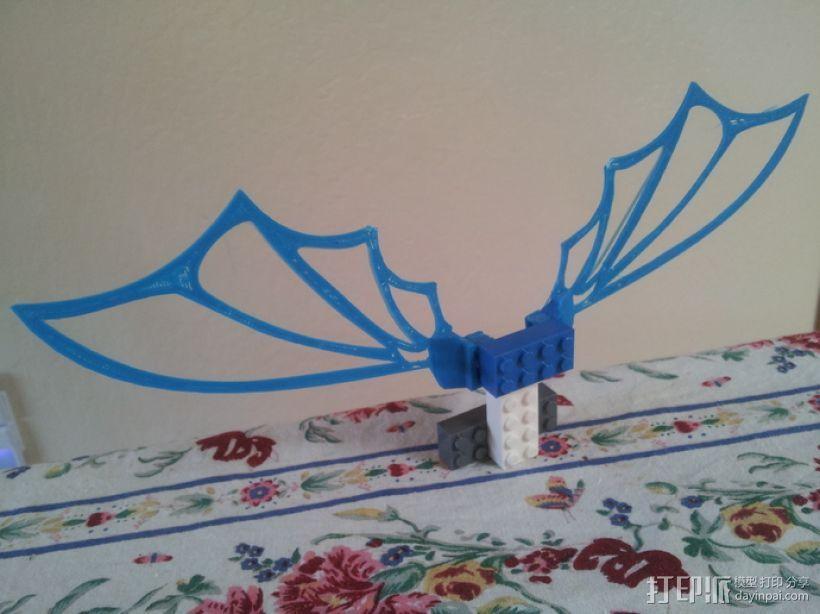 乐高可组装的九头蛇翅膀 3D打印模型渲染图