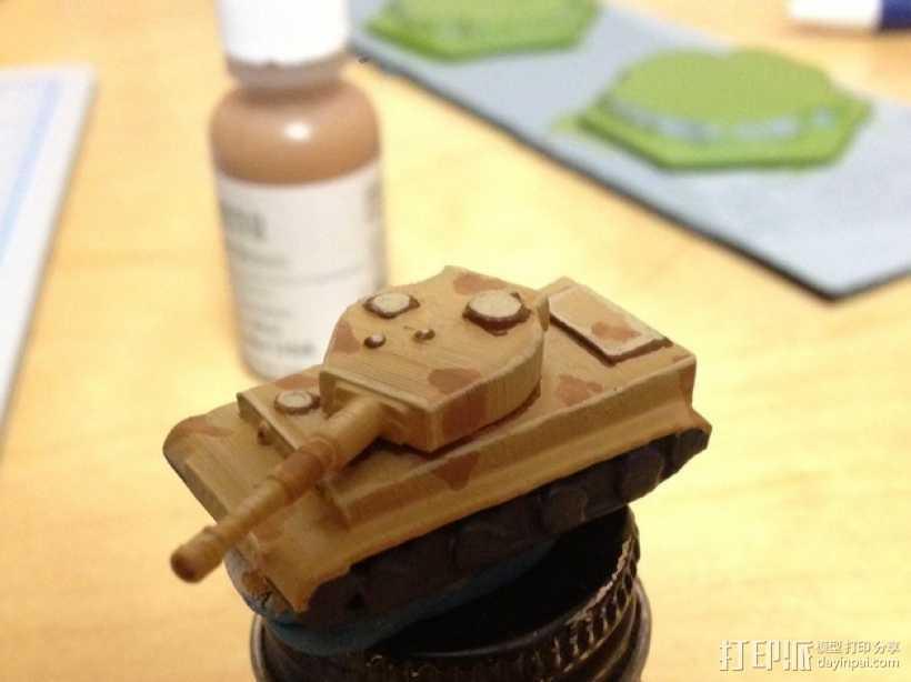 虎式坦克1 3D打印模型渲染图