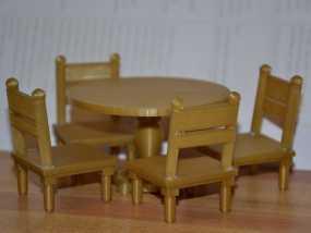 玩具屋桌椅
