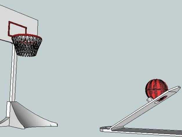 迷你桌面式篮球模型 3D打印模型渲染图