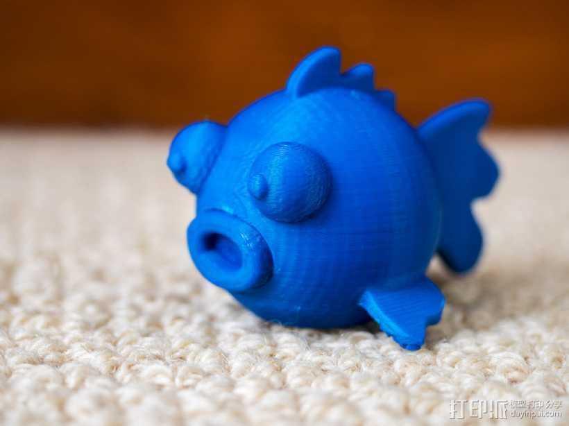 圆形的迷你鱼 3D打印模型渲染图