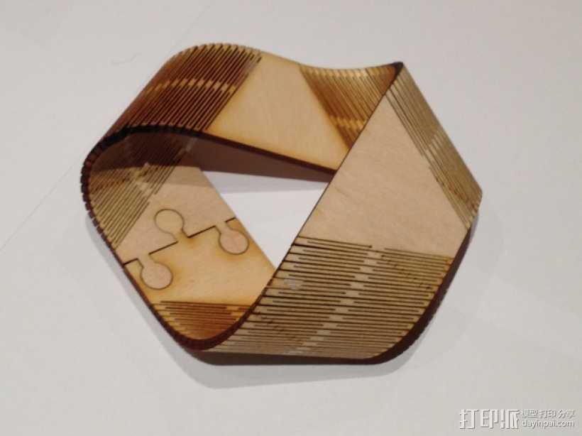 莫斯比环 3D打印模型渲染图