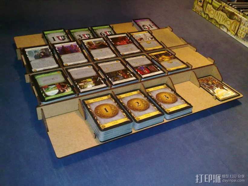 游戏卡牌收纳板 3D打印模型渲染图