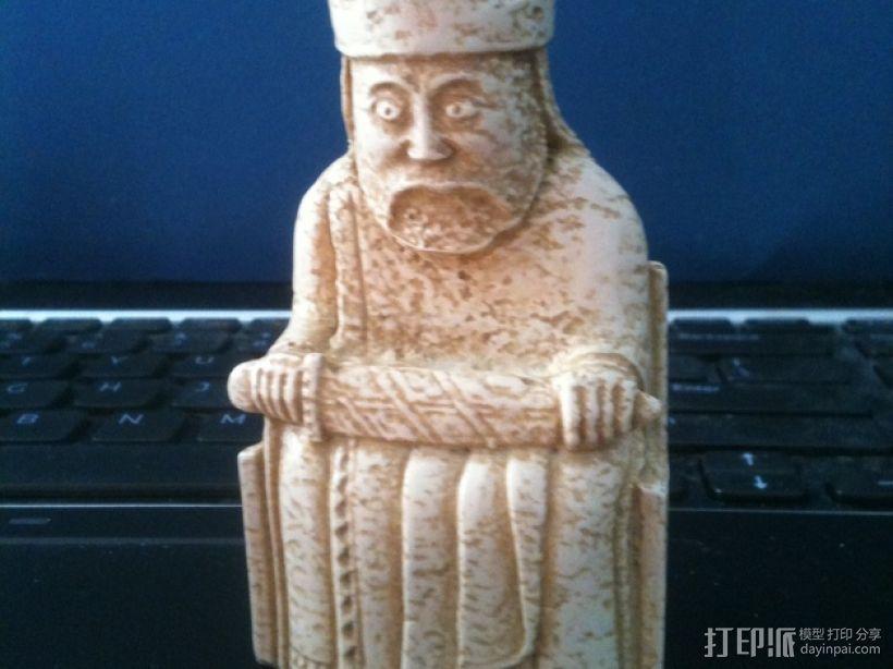 路易斯象棋:王棋 3D打印模型渲染图