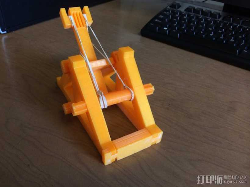 迷你投石机 3D打印模型渲染图