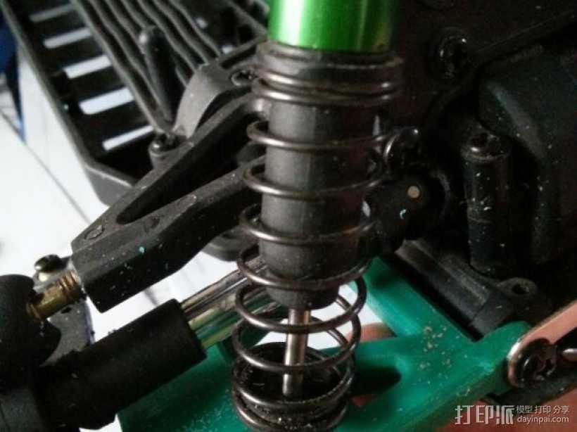 遥控赛车的低前悬吊结构臂 3D打印模型渲染图