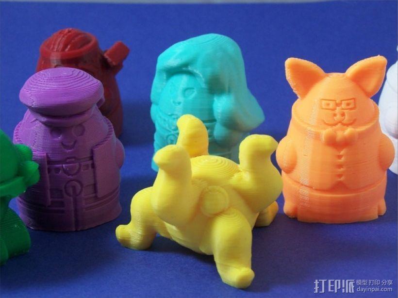 Squigglepeeps玩偶 3D打印模型渲染图