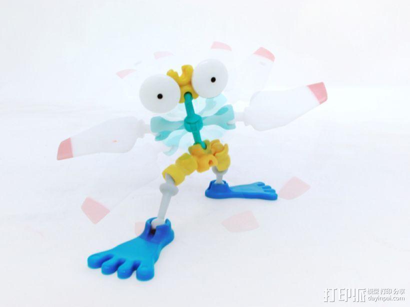 旋转机器人 3D打印模型渲染图