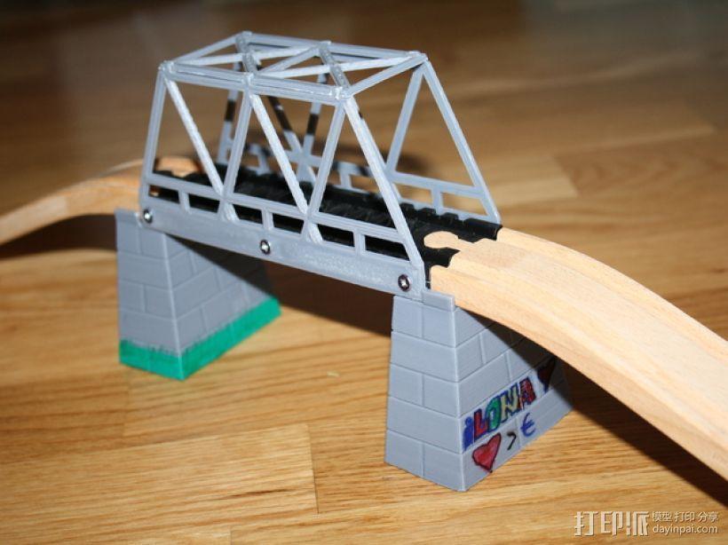 玩具火车桥 3D打印模型渲染图