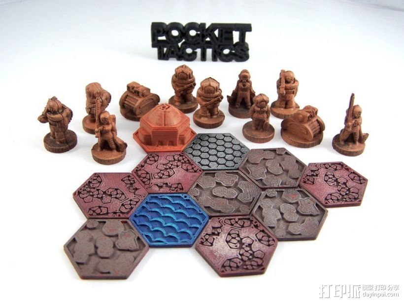 Pocket-Tactics:分裂民兵 3D打印模型渲染图