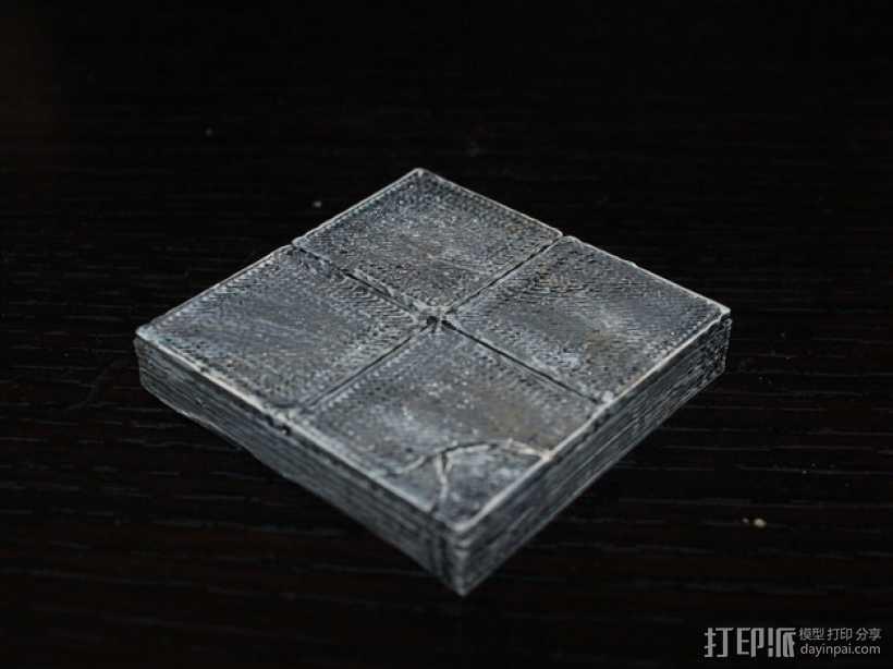 OpenForge平滑地砖 3D打印模型渲染图