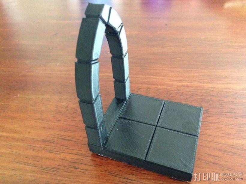 边缘平滑的拱门模型 3D打印模型渲染图