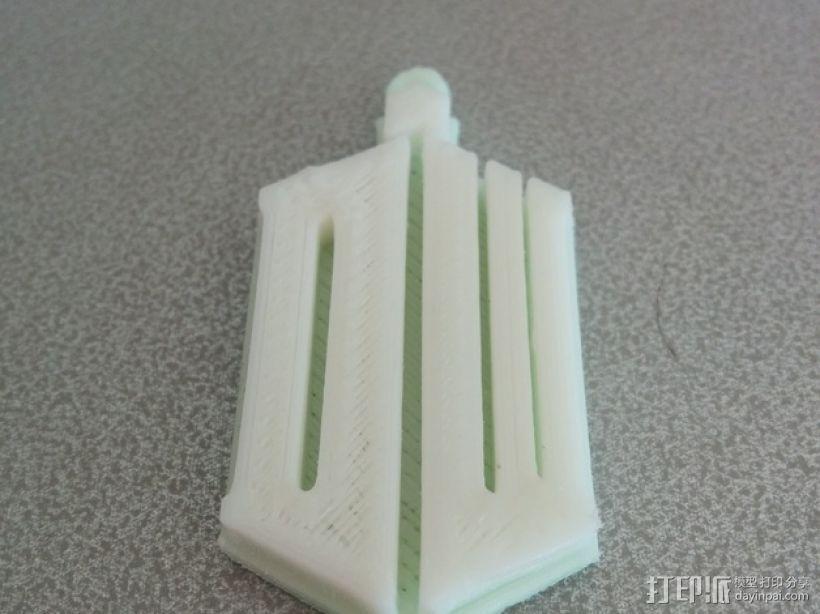 神秘博士钥匙扣 3D打印模型渲染图