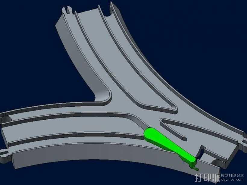 汤玛士玩具火车分离器 3D打印模型渲染图
