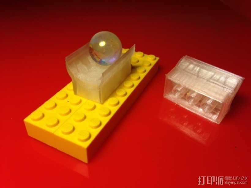 乐高滚珠运行轨道 3D打印模型渲染图