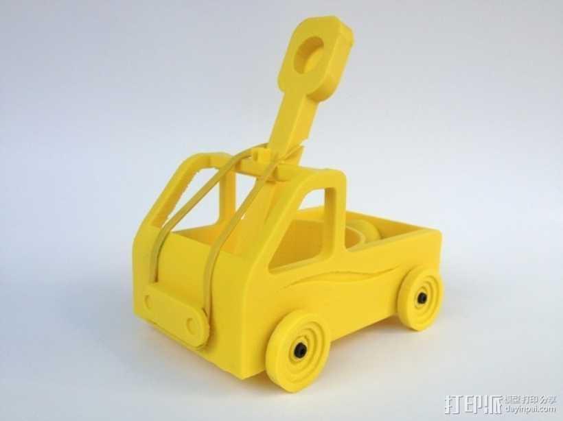 车形弹射器 3D打印模型渲染图