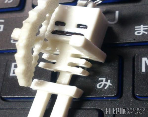 Minecraft骨架玩偶 3D打印模型渲染图