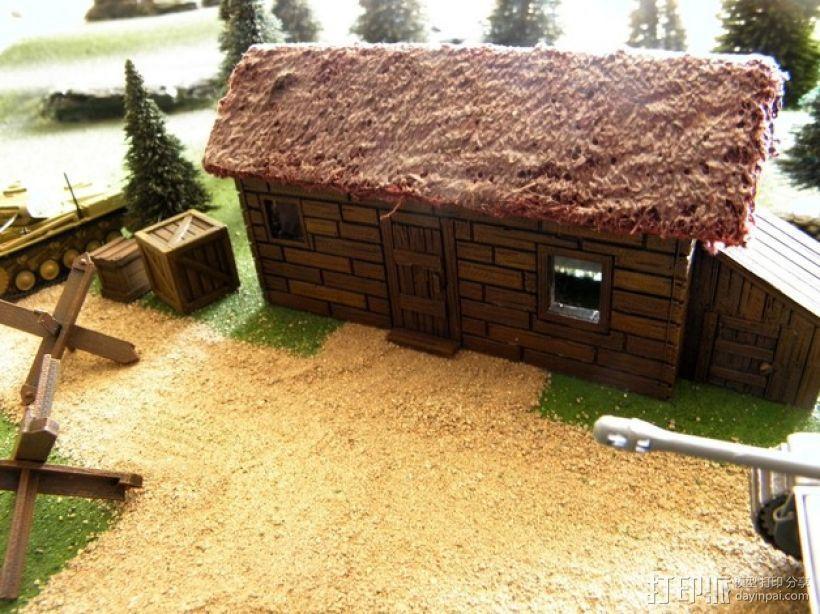 战争游戏:农舍 3D打印模型渲染图