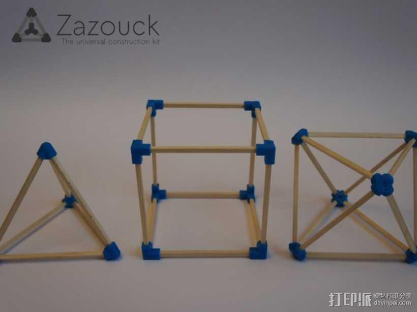 Zazouck建筑工具包 3D打印模型渲染图