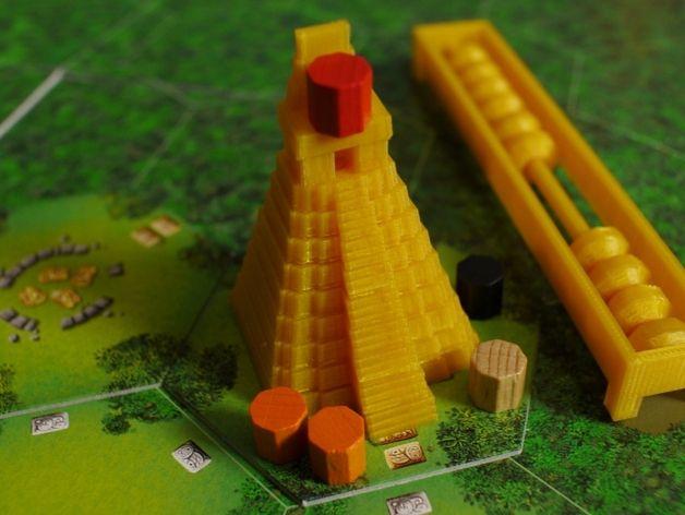 Tikal:神殿方块 3D打印模型渲染图
