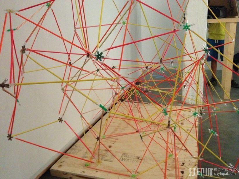 使用竹签制作而成的建筑模型 3D打印模型渲染图