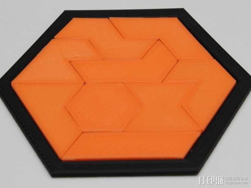 六边形拼图模型 3D打印模型渲染图
