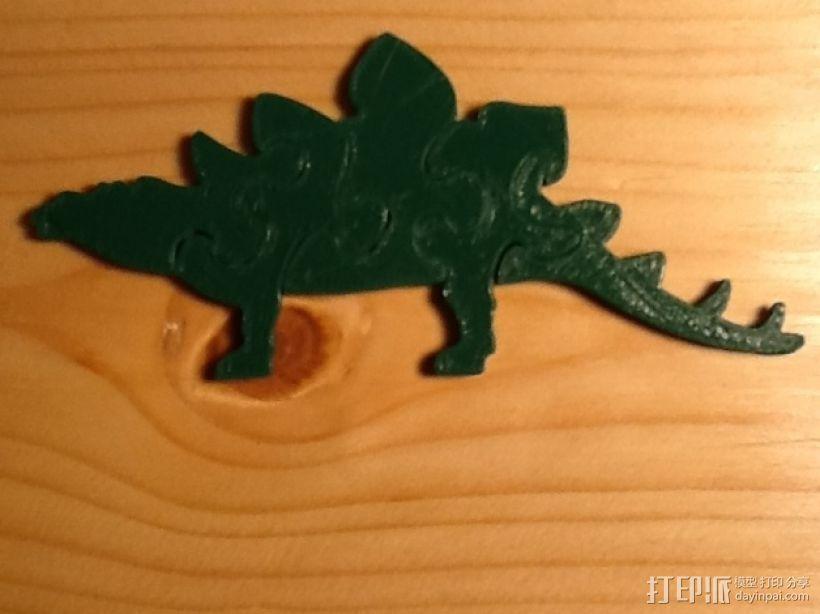 剑龙拼图 3D打印模型渲染图